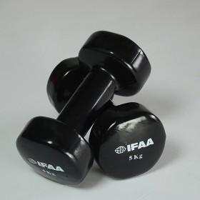 IFAA-Kurzhantel Paar (5,0 kg) schwarz